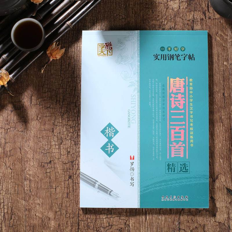 Chinese ancient poems calligraphy copybook (regular script) ancient art Learn Chinese for kids children adults art antistress bichi belt leg band combination does not contain light bulbs