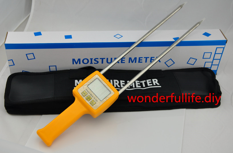 Corn,wheat,rice,bean,wheat flour tester 4 Digital LCD Grain moisture tester meter range:5-35% hygrometer mc 7806 digital moisture analyzer price with pin type cotton paper building tobacco moisture meter