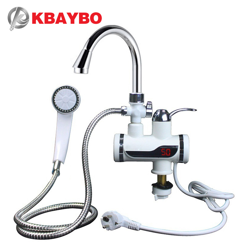KBAYBO Instant Tankless Electric Hot Water Heater Faucet Kitchen Heating Tap EU plug