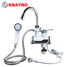 KBAYBO Instant Tankless Electric Hot Water Heater Faucet Kitchen Instant Heating Tap EU plug цена и фото