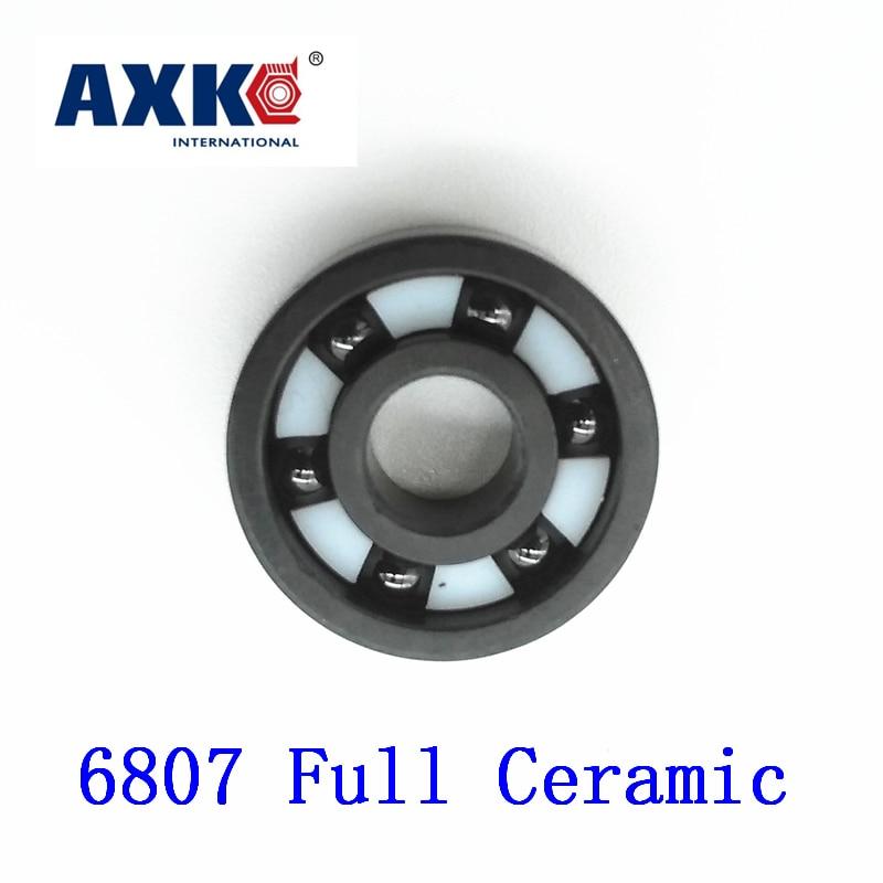 Axk 6807 Full Ceramic Bearing ( 1 Pc ) 35*47*7 Mm Si3n4 Material 6807ce All Silicon Nitride Ceramic 6807 Ball Bearings axk 6003 full ceramic bearing 1 pc 17 35 10 mm si3n4 material 6003ce all silicon nitride ceramic ball bearings