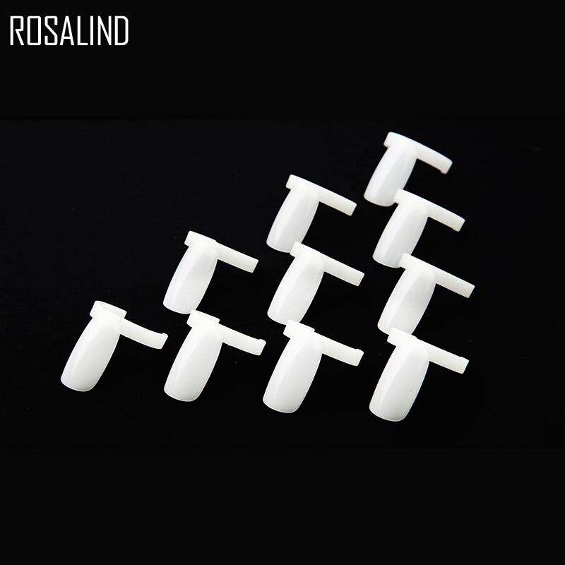 ROSALIND 20Pcs/Lot Acrylic Full Nail Tips Polish UV Gel Color Pops Display Nail Art Ring Style Nail Tips