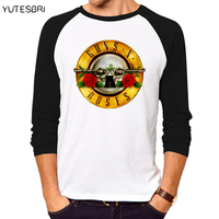 Fashion Top Tees Rock Band Guns N Roses Long Sleeves T Shirts Swag Homme HIP HOP