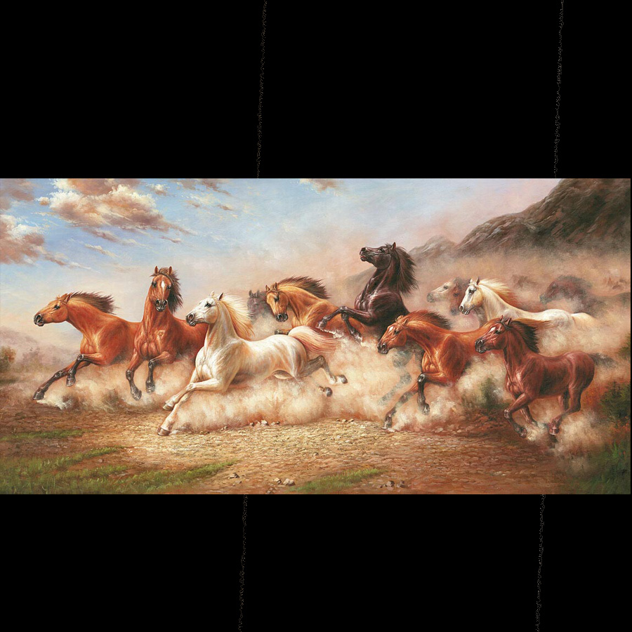 Super Grote Maat Canvas Horse Paintings Animal Wall Picture op Canvas - Huisdecoratie