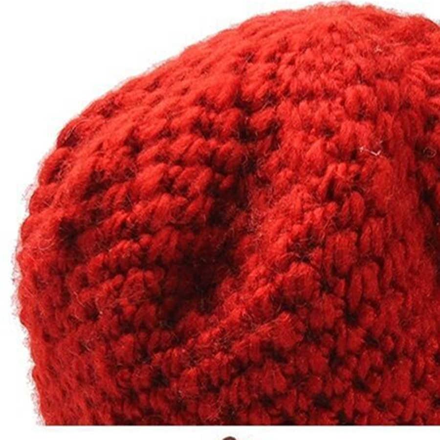 Yepyeni Sıcak Şapka Kış Kadın Earmuffs Yün Kap Güzel örgü şapkalar Kadın Sonbahar Kış Moda bere Toptan
