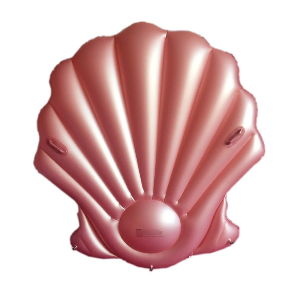 YUYU Rose gold Shell Float Gaint Inflatable Swimming Float Tube Raft Adult giant pool float Swim Ring Summer Water Fun Pool Toys