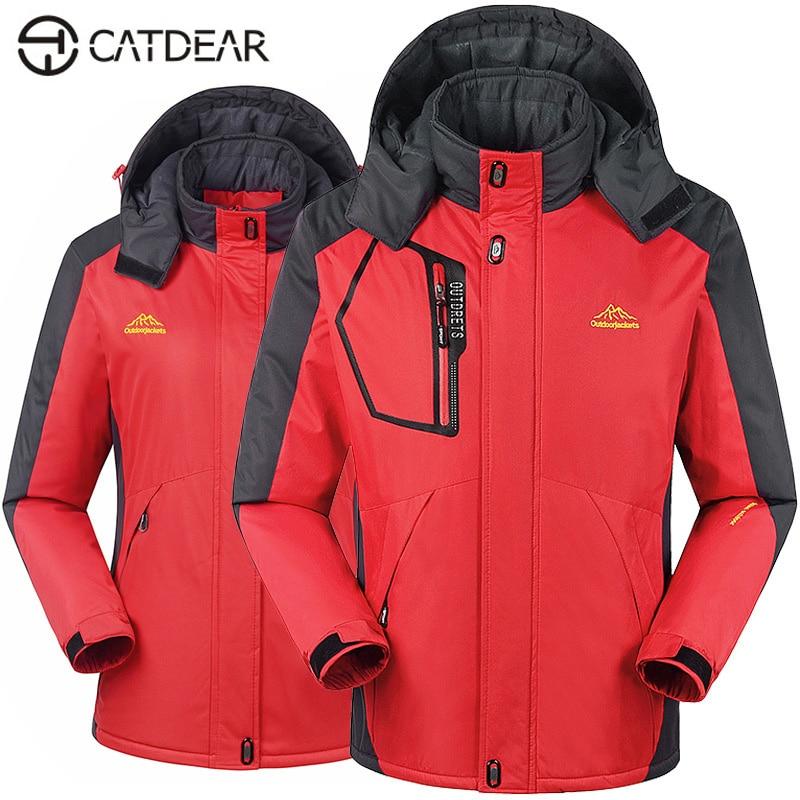 Men Women outdoor clothing outdoor Waterproof windproof Mountain climbing jacket Camping & Hiking jacket fleece keep warm jacket