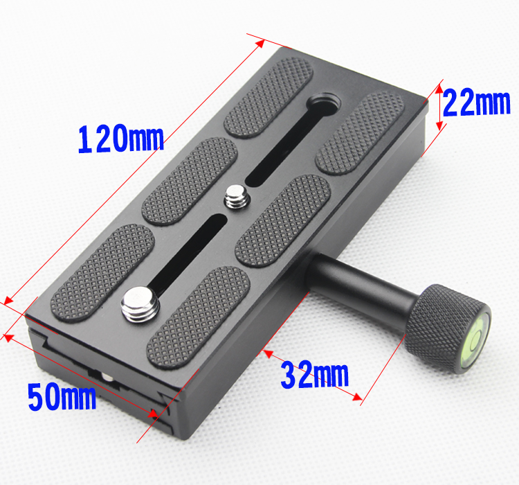 Metal K120 Screw Adjustable Clamp Camera QR Quick release plate for Tripod Monopod Ball Head