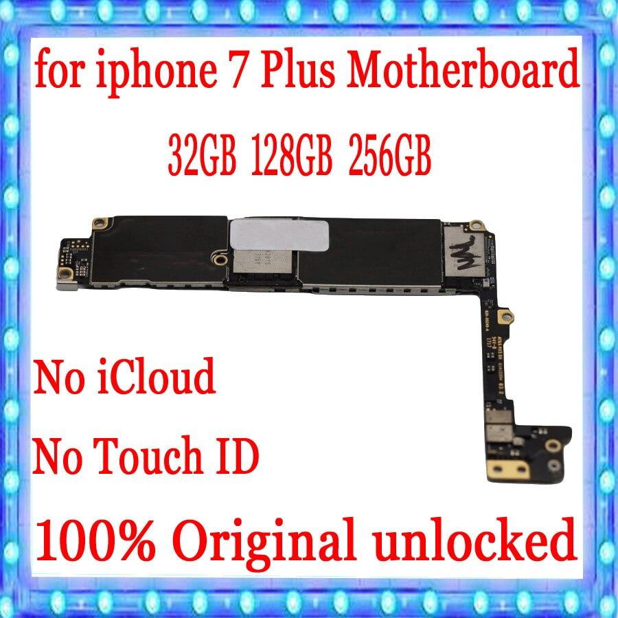Fabrycznie odblokowany dla iphone 7 Plus płyta główna bez Touch ID, nie ma aplikacji iCloud dla iphone 7 Plus 7 P płyty głównej, 100% oryginalny MB płyta w Anteny do telefonów komórkowych od Telefony komórkowe i telekomunikacja na AliExpress - 11.11_Double 11Singles' Day 1