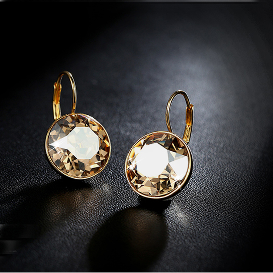 11.11 Sale Christia Bella Dangle Earrings Made With Austria Crystal Rose Gold Color Earings Fashion Jewelery 2018 For Women Gift