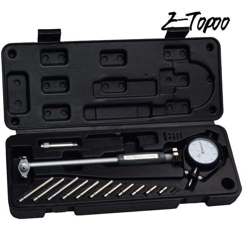 50-160 мм 35-50 мм 0,01 мм Индикатор диаметра стрелочного отверстия, индикаторы диаметра, прецизионный цилиндр двигателя, Измерительный набор, измерительный инструмент