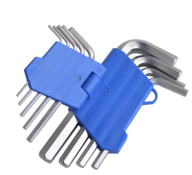 a braccio lungo e punta sferica 9 pezzi Set di chiavi esagonali Gunpla 1.5-10mm