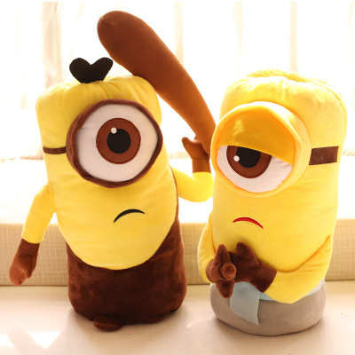 Minion Christmas.Us 13 99 2016 New Minions Cosplay Vampire Primitive Pirate Model Warm Hands Plush Baby Toy 33cm Minion Christmas Birthday Gift In Dolls From