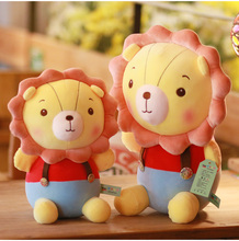Hot New 1pc 30/40/50CM Sale Popular Cartoon Lion Stuffed Plush Doll Jungle Series Animal Toys for Kids Children Gift