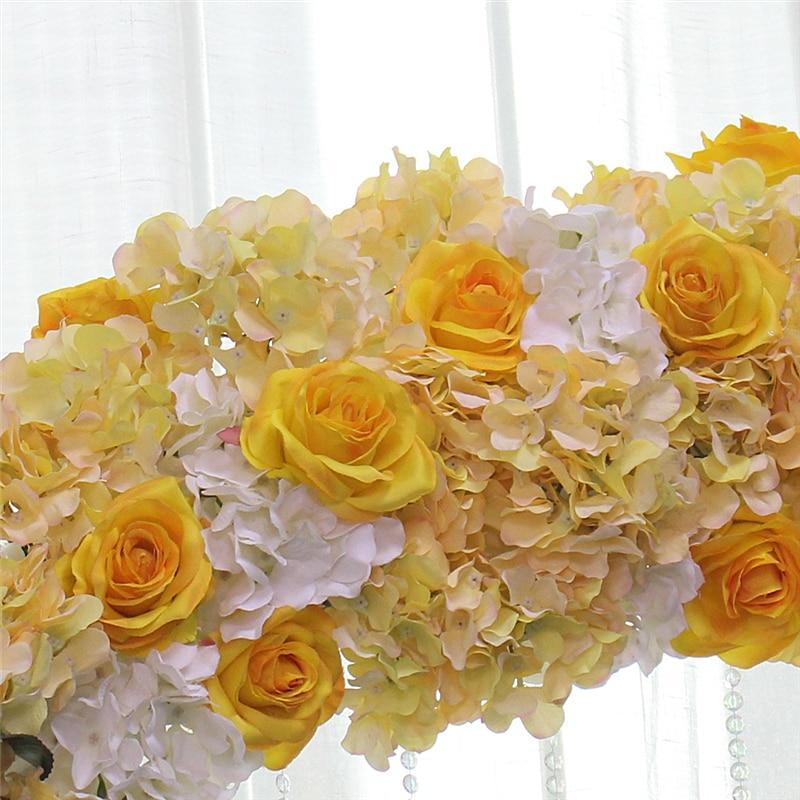 2m personalizado boda flor fila decoración del hogar simulación flores falsas ventana decoración arco camino guía Flor de seda Artificial-in Flores artificiales y secas from Hogar y Mascotas    3