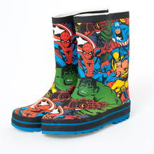 Fashion Boys and Girls Rain Boots Kids Cartoon Hero Spider-man Children's Water Shoes Spring and Autumn Antiskid Outdoor Boots(China)