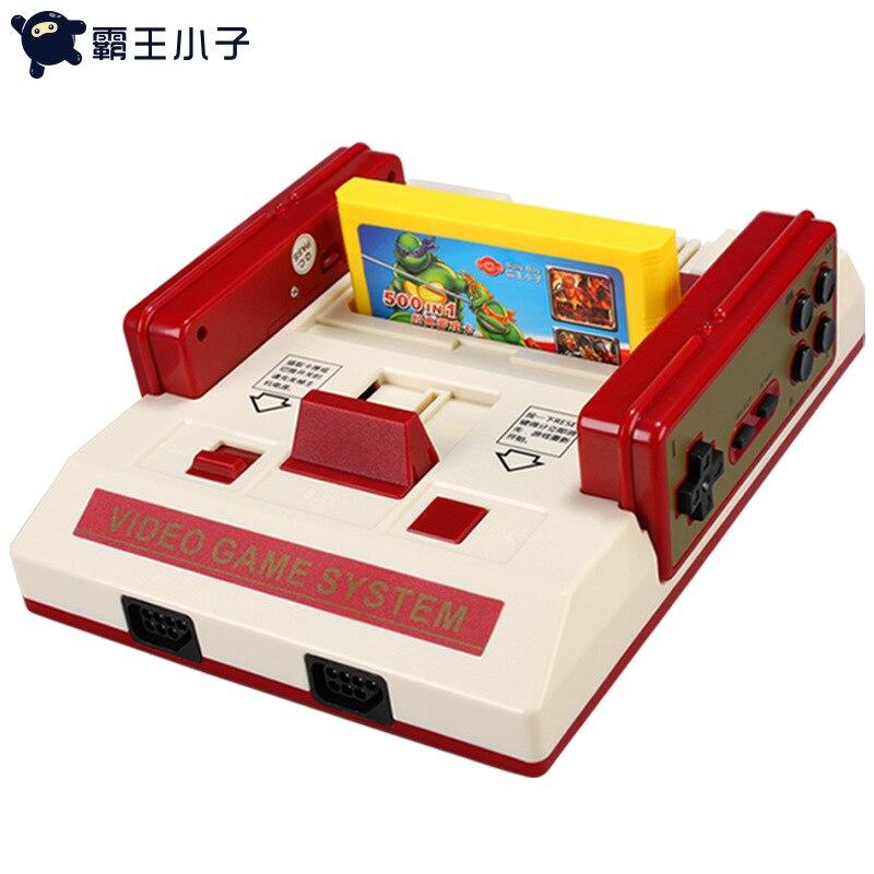 D101 8 bits rouge et blanc console de jeu vidéo version HD nostalgique 4 K rétro console de jeu double bataille FC sans fil double poignée