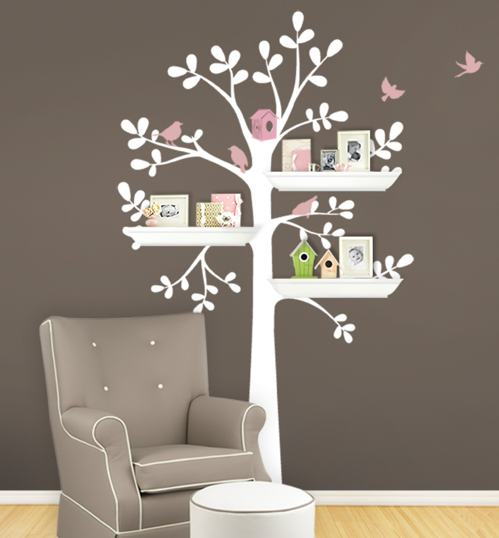 Owl Birds Tree Wall Decal For Nursery Princess Girl Bedroom Wall Tattoo Large  Tree With Flowers Wall Stickers A397 In Wall Stickers From Home U0026 Garden On  ...