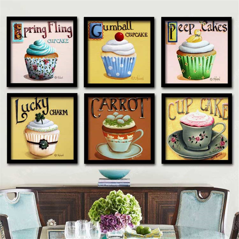 10pcs/lot Modern dessert pastry cakes bakery shop wall ...
