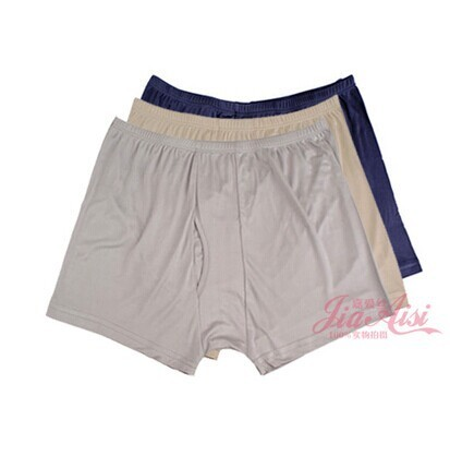 High-end men's pants Silk knitting underwear more than 100% of mulberry silk color