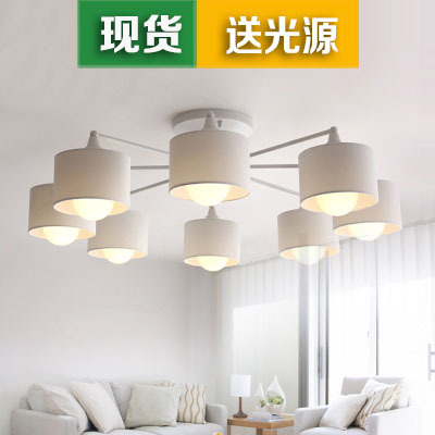 Modern Minimalist Living Room Bedroom Lamp Lamp Room Restaurant Study IKEA  Nordic Lamps Lighting Korean Ceiling