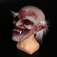 Halloween White Eyebrow Evil Spirit Face Mask Horrible Tricks Joke Fancy Dress