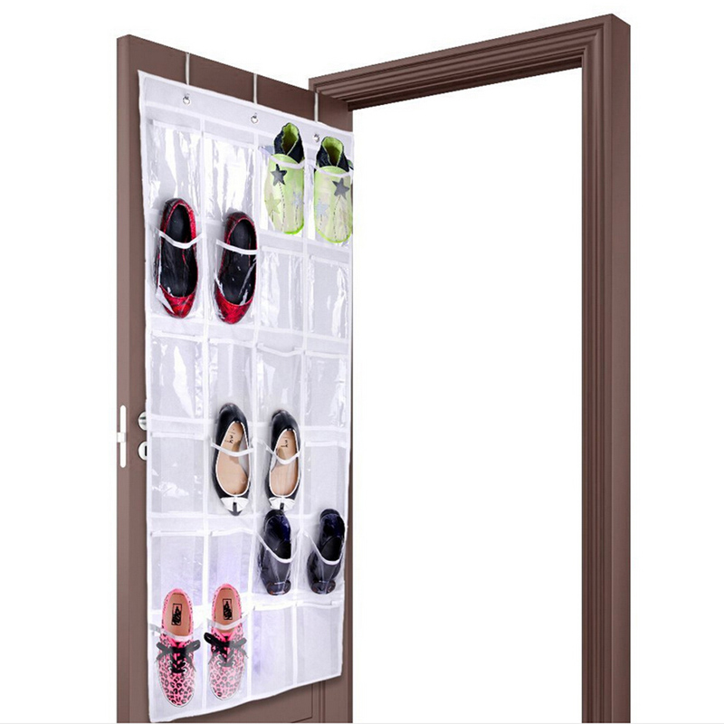 24pockets Clear Hanging Shoes Organizer Holder Storage Baseroom Living Room Bag Shoe Rack Hanger Tidy Organizor Zq875465 In Bags From Home