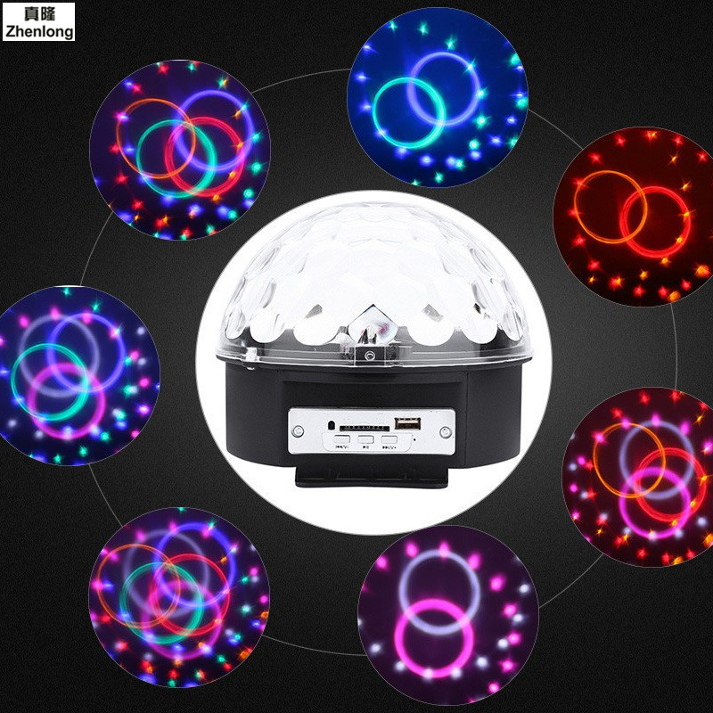 9 Colors MP3 Music DJ Disco Ball AC85-265V Sound Activated Laser Projector RGB Stage Lighting Effect Lamp KTV Party Light 18W