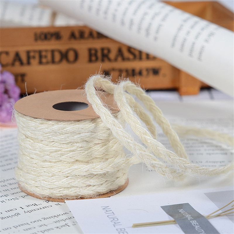 0 5CM 5m roll Hessian Jute Ribbon Burlap Roll Vintage Wedding Decoration Party DIY Craft Supplies Festival Gift Packaging in Party DIY Decorations from Home Garden