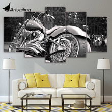 HD Printed Motorcycle bike balck Painting Canvas Print room decor print poster picture canvas Free shipping/NY-5808 printed abstract graphics psychedelic nebula space painting canvas print decor print poster picture canvas free shipping ny 5746