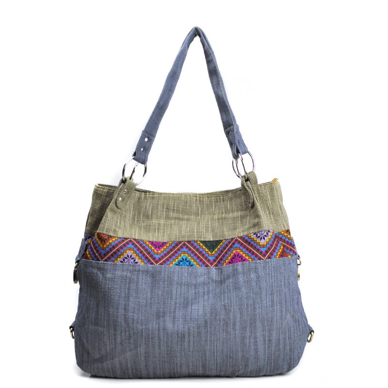 Us 23 6 41 Off Fabric Tote Bag For Women Bohemian Tribal Boho Chic Ethnic Daily Handbag Female Soft Large Ping Handle Purses Canvas In