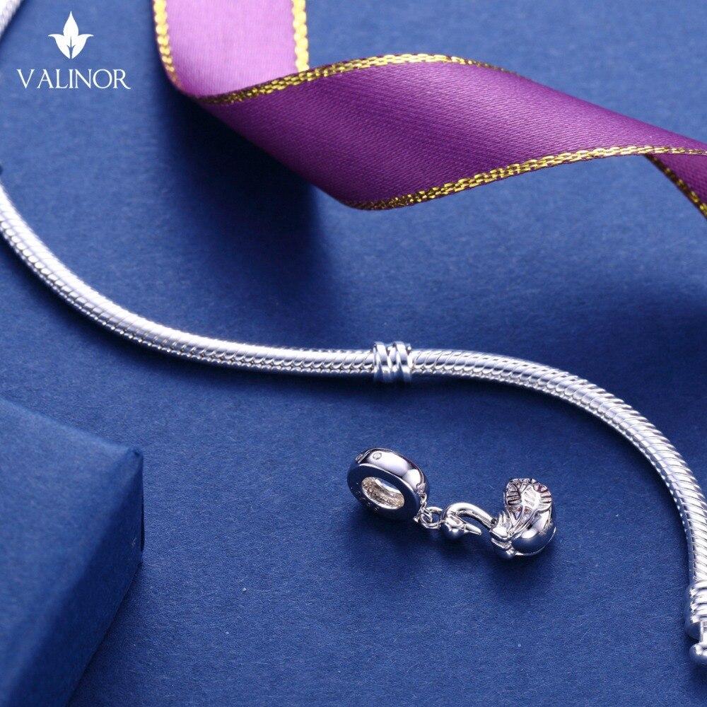 Video! Labod obesek iz srebra 925 kroglice s šarlingom se prilega - Modni nakit - Fotografija 6