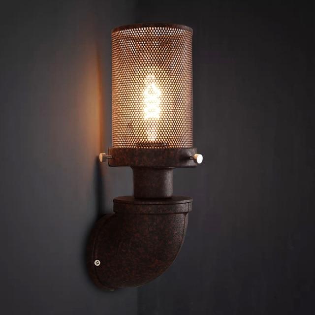 Loft Retro Lampe Vintage Eisen Rohr Wand Licht Korridor Pub Cafe Restaurant  Gang Nacht Wohnzimmer Wand