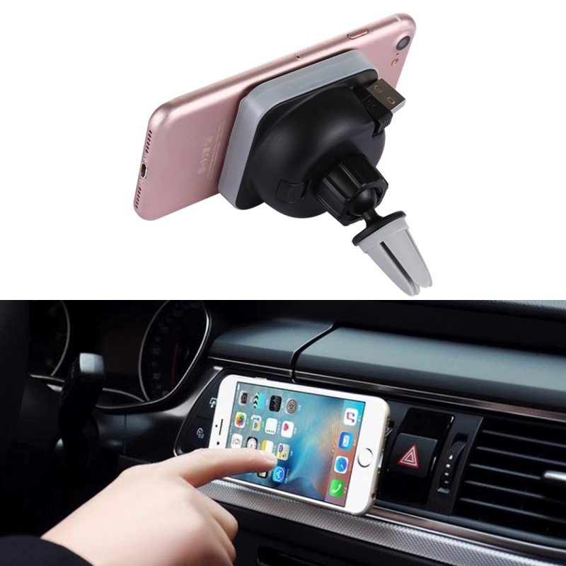 Car Air Vent Mount Magnetic Phone Holder Universal 360 Degree Rotate Wireless Charging Stand Mount with 85cm Scalable USB Cable