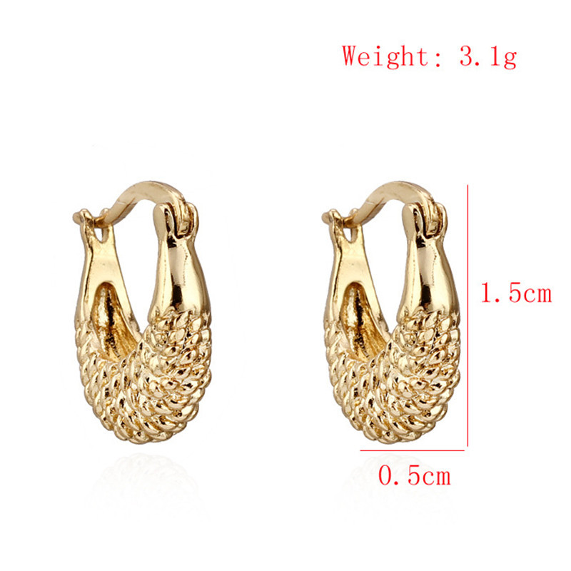 Unique Gold Earring Ring Type Designs | Jewellry\'s Website