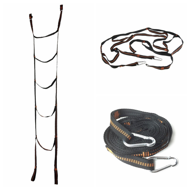 Back To Search Resultssports & Entertainment Outdoor Soft Ladder Tree Tent Suspended Tent Rope Ladder Webbing Ribbon Escape Training Fire Rescue Climbing Portabl 8 Soft And Light