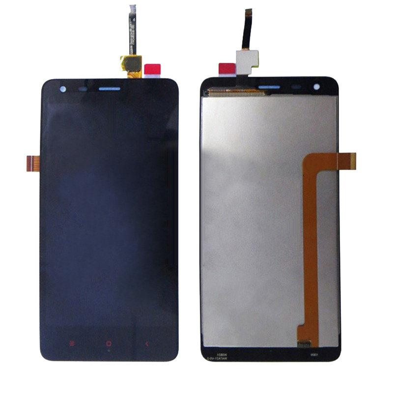 4.7 inch for xiaomi redmi2 lcd display + touch screen glass panel sensor TP assembly for hongmi / xiaomi redmi 2