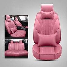 WLMWL Universal Leather Car seat cover for Renault all models logan scenic fluence duster megane captur laguna kadjar