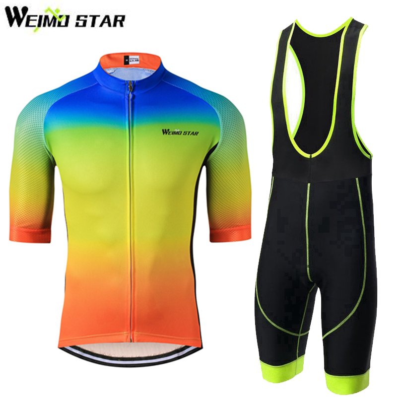 WEIMOSTAR Mens Cycling Bike Clothing Sets Ropa Ciclismo Outdoor MTB Bicycle Half Short Sleeve Bib Shorts Riding Sports Suit topeak outdoor sports cycling photochromic sun glasses bicycle sunglasses mtb nxt lenses glasses eyewear goggles 3 colors