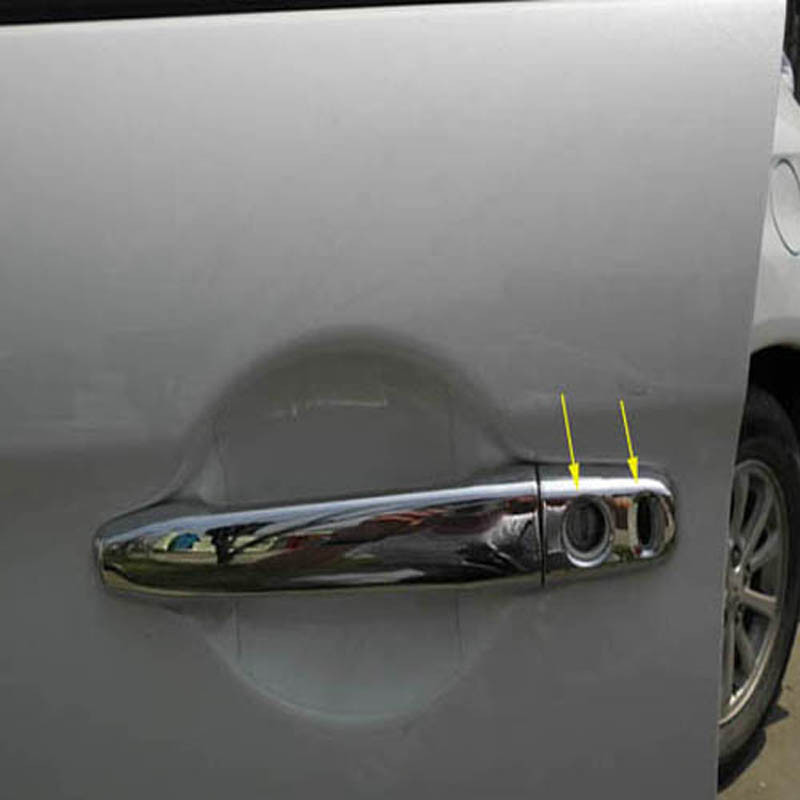 Free shipping For Mitsubishi Outlander Lancer 2008 RVR  ASX 2010 2011 2012 2013 2014 ABS Chrome Car Door Handle Cover