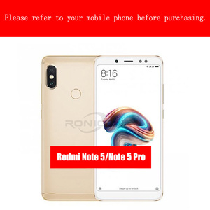 Image 5 - For Xiaomi redmi Note 5 Pro screen protector full cover white and black protect film For xiaomi redmi 5 Plus tempered glass Case
