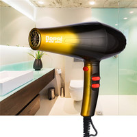 Professional 4000W Strong Hair Dryer Gold Hairdryer Red Hairdresser Salon & Home Hair Drier Fast Styling Blow Dryer Fan 220 240V