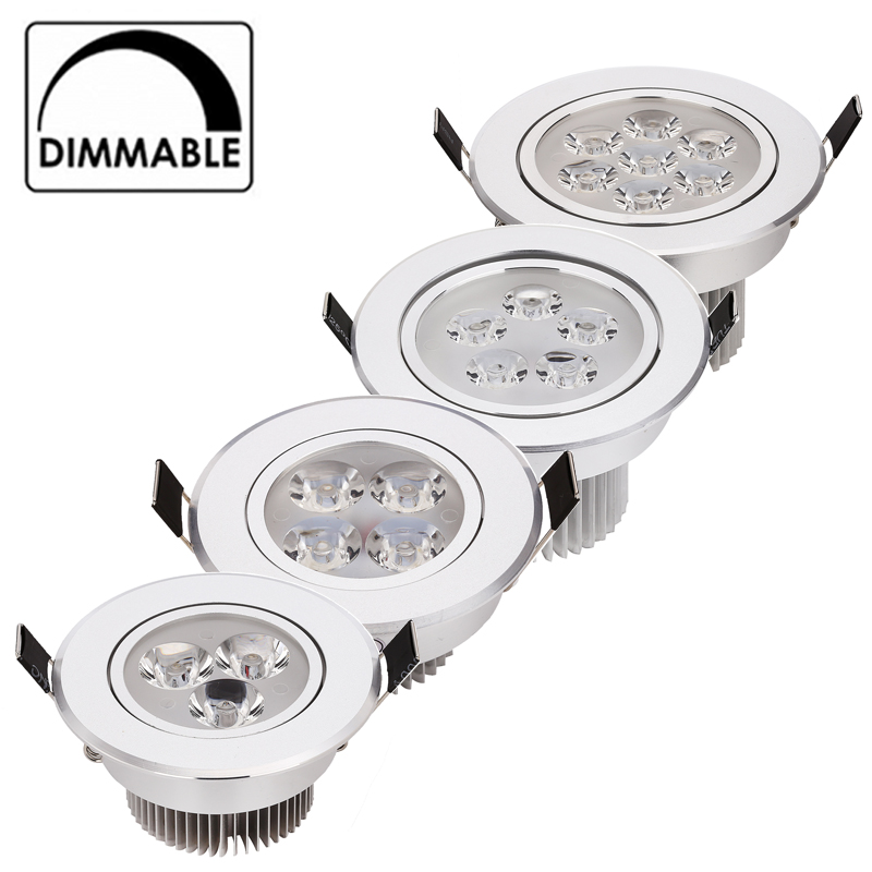 20ks / lot nejlepší cena 9W 12W 15W 21W stmívatelné LED podhledy - Vnitřní osvětlení
