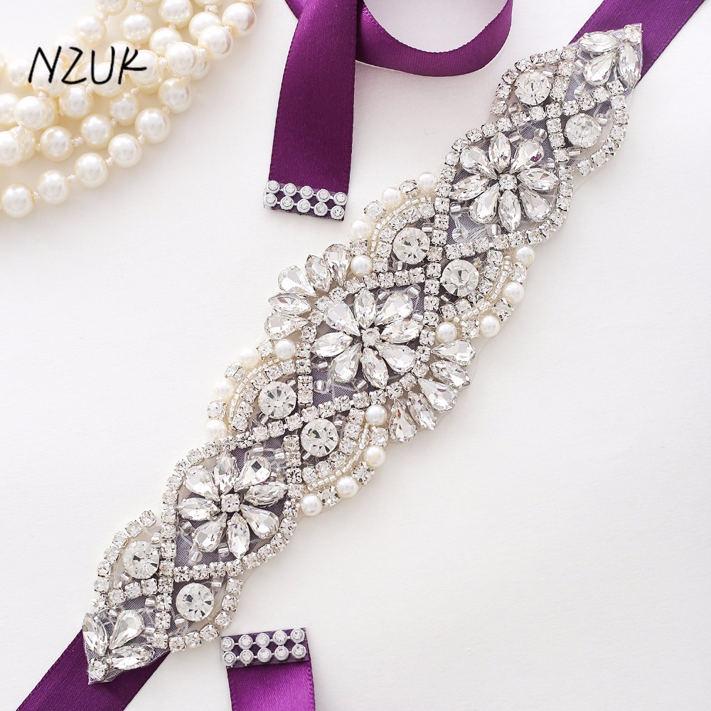 Wedding Belt Pearl Crystal Bridal Belt Rhinestones Wedding Dress Sash Cinturon Flores For Bridal Accessories  Y104S