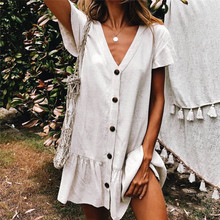 Beach dress Saida de Praia Cotton Beach Cover up Kaftan Beach Pareos de Playa Mujer Lace Bikini Cover up Swimsuit cover up #Q771