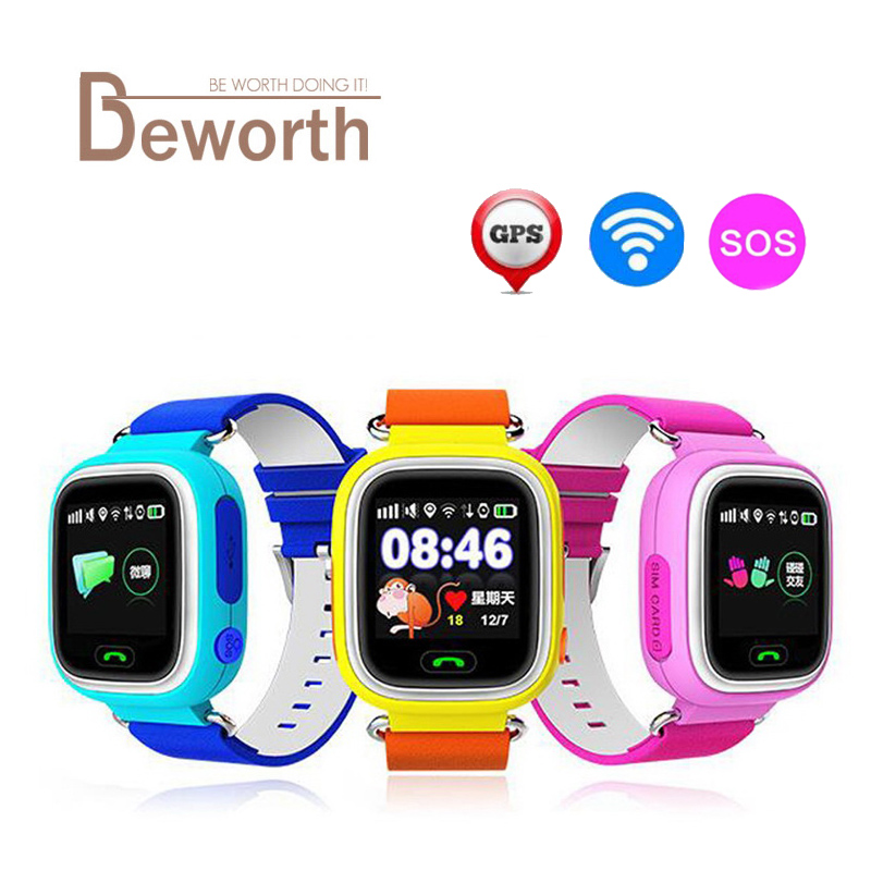 <font><b>Kids</b></font> GPS Smart Watch Q90 With Wifi Touch Screen Children Baby <font><b>Smartwatch</b></font> SOS Call Location For <font><b>Kid</b></font> Safe Anti-Lost Monitor PK <font><b>Q50</b></font> image
