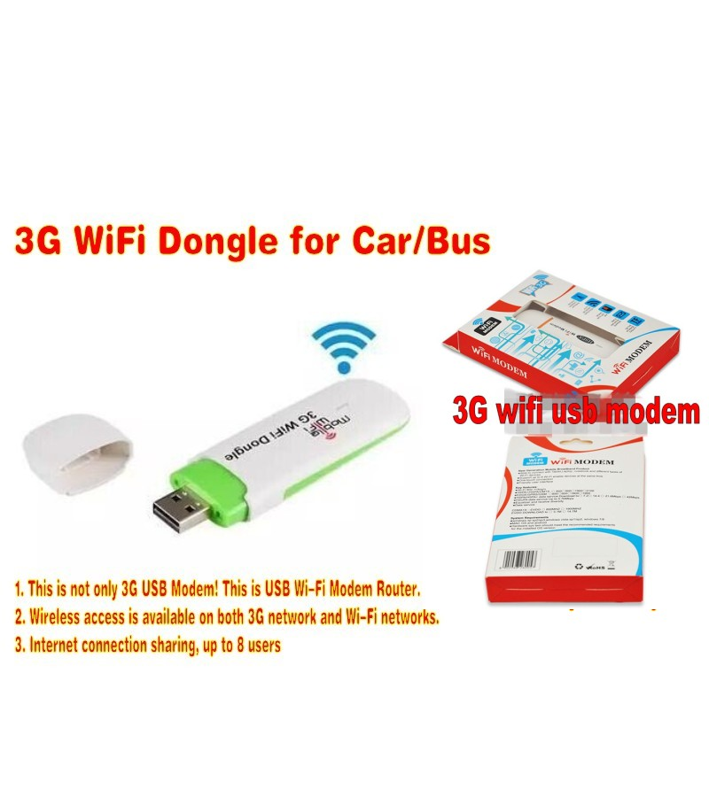 Mini 3G USB Wifi Router 7.2Mbps WiFi Modem for Car or Bus With SIM Card Slot