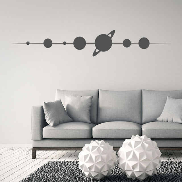 Planets Vinyl Wall Stickers Space Wall Decal Kids Bedroom Design