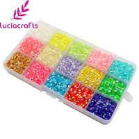 Lucia crafts 4mm 15000pcs Mix Crystal Candy Stone Resin Flatback Rhinestone Beautiful DIY Nail Bags Art Accessories F1111