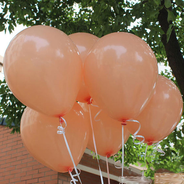 10pcs High Quality 12Inch Peach Pearl Color Latex Balloons Basic Party Balls Happy Birthday Wedding Decoration